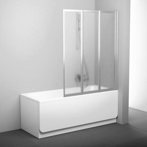 Sulankstoma vonios sienelė Ravak, VS3 130, satinas+stiklas Grape