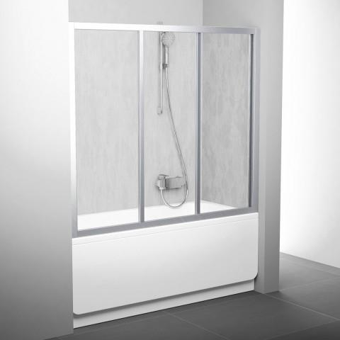 Stumdomos vonios durys Ravak, AVDP3-150, satinas+plastikas Rain