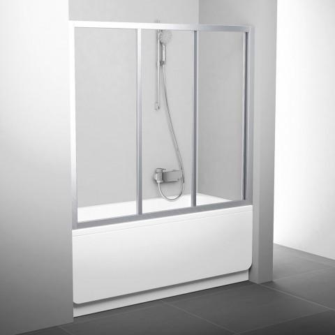 Stumdomos vonios durys Ravak, AVDP3-170, satinas+stiklas Transparent