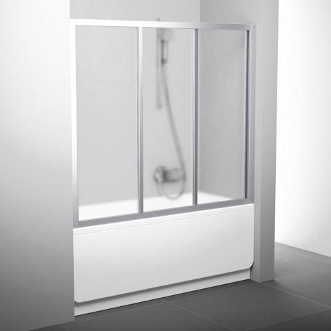 Stumdomos vonios durys Ravak, AVDP3-170, satinas+stiklas Grape