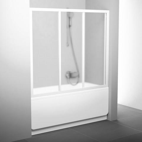 Stumdomos vonios durys Ravak, AVDP3-180, balta+stiklas Grape