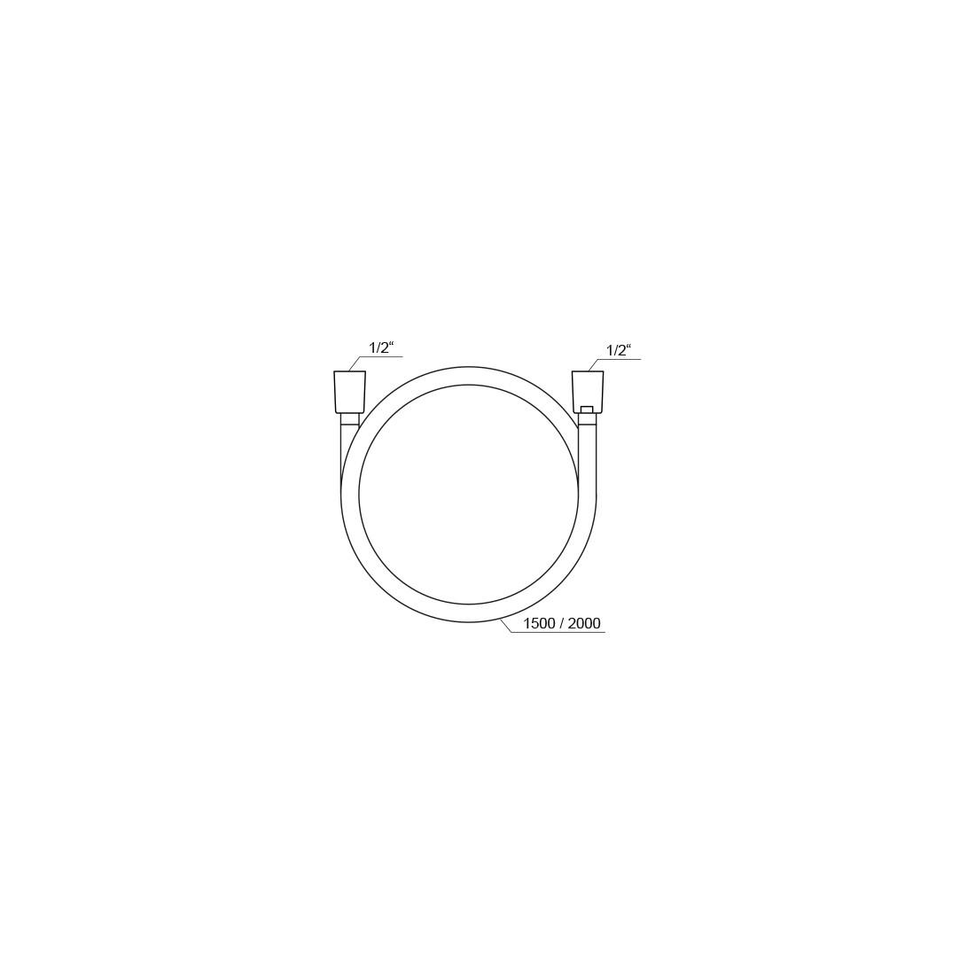 Dušo žarna Ravak SilverShine, 914.00 150 cm