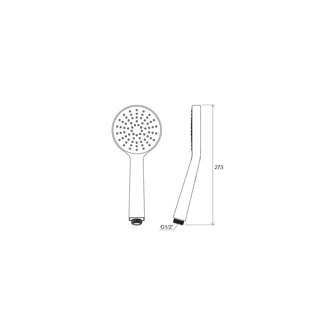Dušo galvutė Ravak Flat, S 1 funkcijos, 100 mm, 960.00