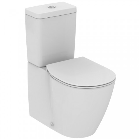 Pastatomas WC Ideal Standard, Connect Cube su bakeliu ir dangčiu