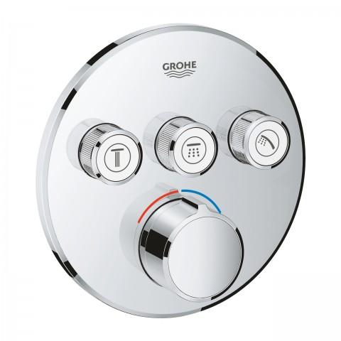 Virštinkinė maišytuvo Grohtherm SmartControl dalis, 3 valdikliai, chromas