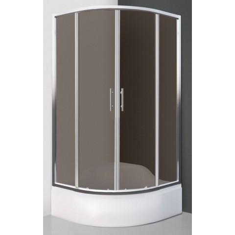 MADISON NEO/900 pusapvalė dušo kabina 90x90 h165, R550, stiklas Rouch, prof.Brillant