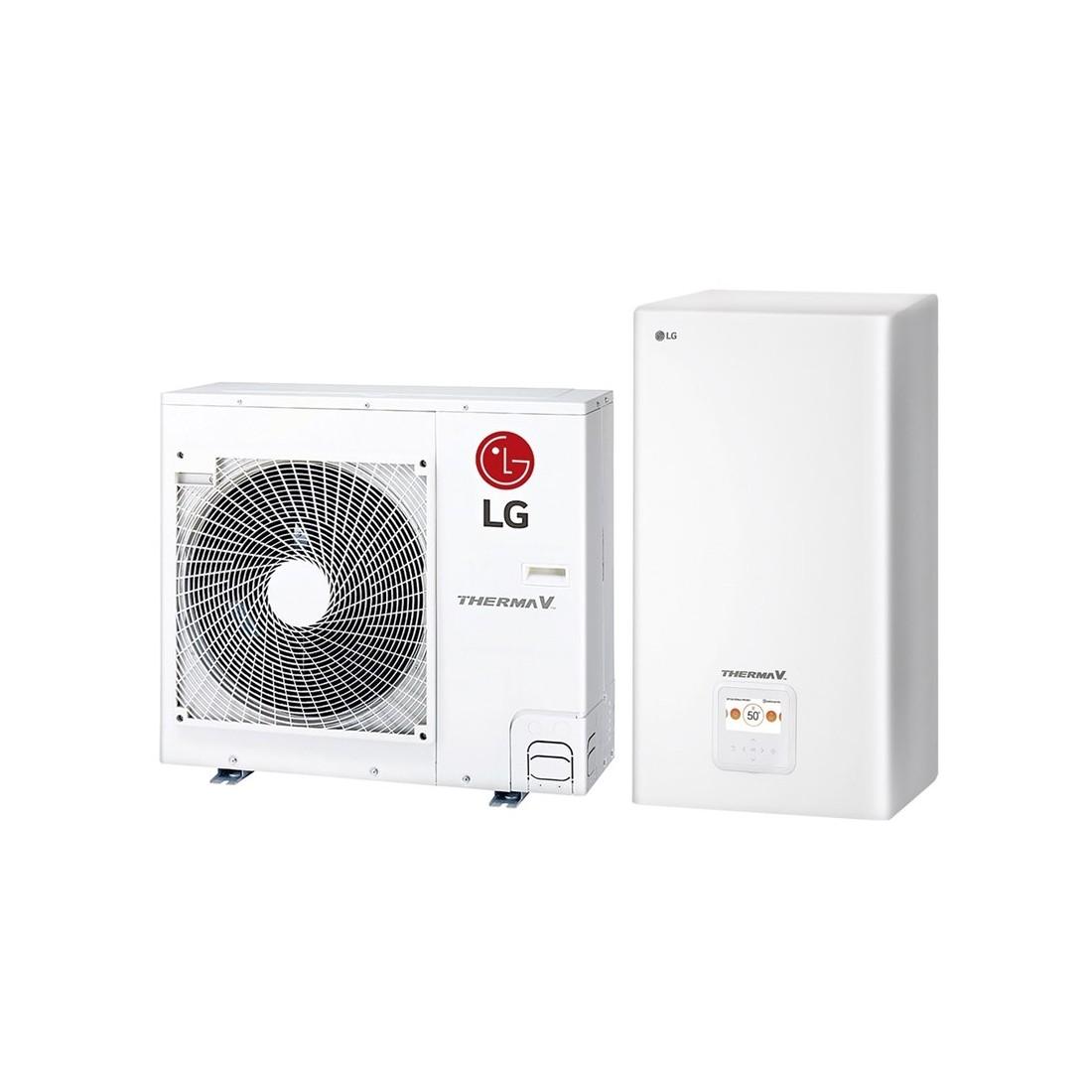 Šilumos siurblys Oras-Vanduo LG Therma V, Split, 5.5 kW Ø1 + kondicionierius LG tik už 1 ct!