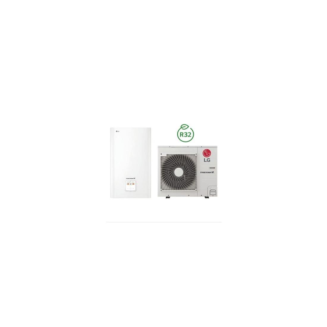 Šilumos siurblys Oras-Vanduo LG Therma V, Split, 9 kW Ø1 + kondicionierius LG tik už 1 ct!