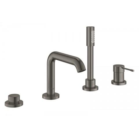 Maišytuvas voniai Essence New 4-ių dalių, montuojamas į vonios kraštą, hard graphite