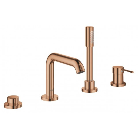 Maišytuvas voniai Essence New 4-ių dalių, montuojamas į vonios kraštą, warm sunset