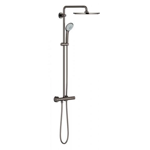 Dušo sistema Euphoria XXL 310, termostatinė 110mm rankinis dušas, 310mm dušo galva, hard graphite