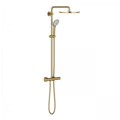 Dušo sistema Euphoria XXL 310, termostatinė 110mm rankinis dušas, 310mm dušo galva,sp. br Cool Sunrise