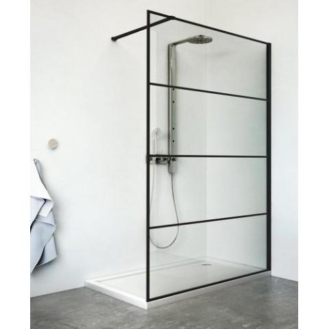Dušo sienelė PHILLY LOFT HORIZON/1000, rėmas juodas matinis, stiklas skaidrus