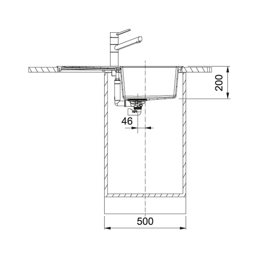 Tectonite plautuvė Franke, Sirius S2D 611-78 su ekscentriniu ventiliu, Titanium