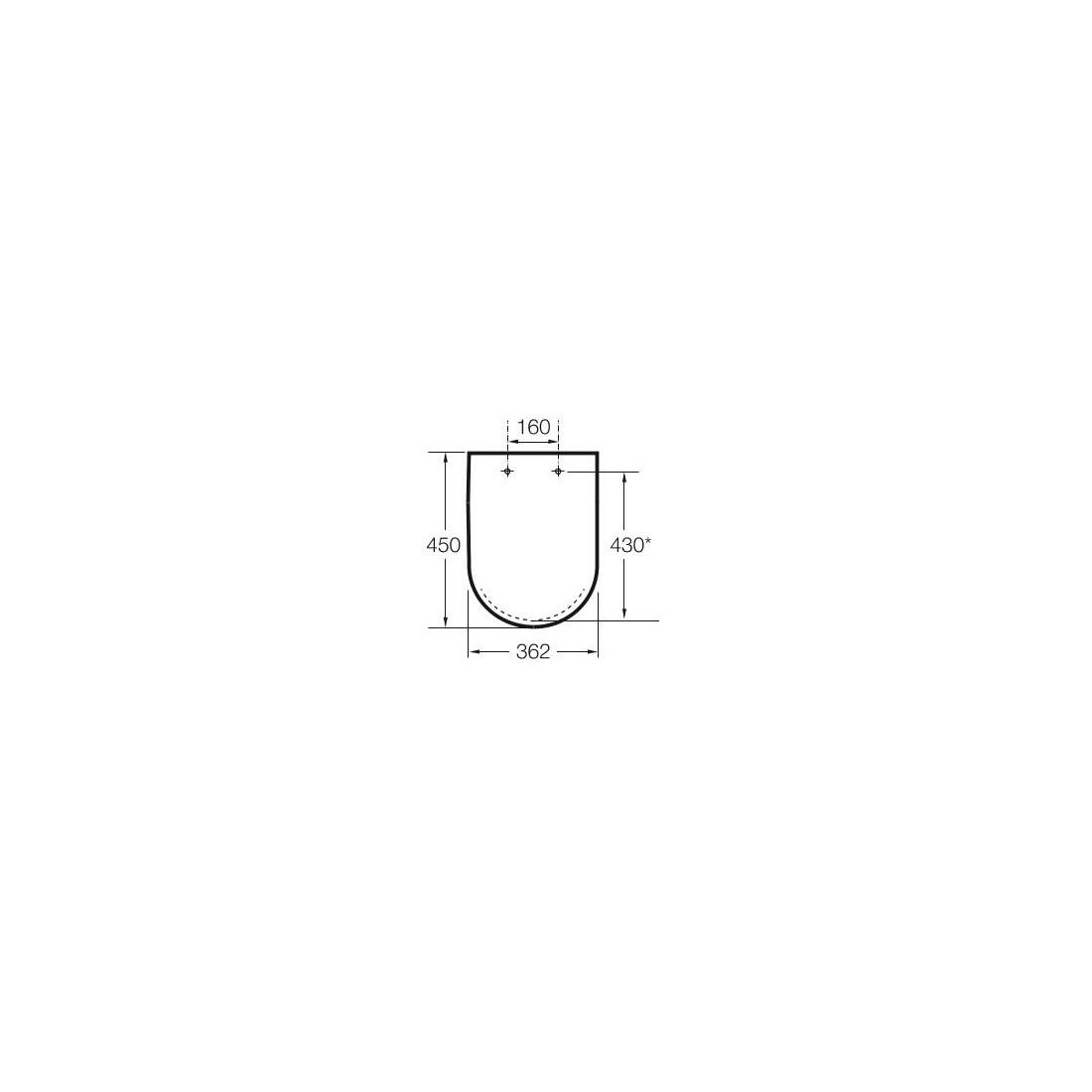 Unitazo sėdynė su dangčiu MERIDIAN , su Softclose mechanizmu