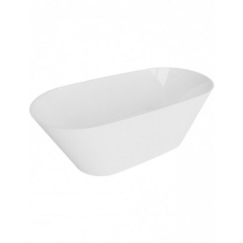 Akmens masės vonia Vayer Balara 163x79 cm, ovali, balta