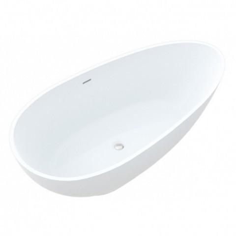 Akmens masės vonia Vayer Carina 170x85 cm, ovali, balta