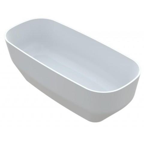 Akmens masės vonia Vayer Serpens 2 164x83 cm, stačiakampė, balta