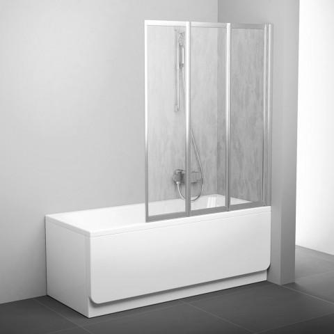 Sulankstoma vonios sienelė Ravak, VS3 115, satinas+plastikas Rain
