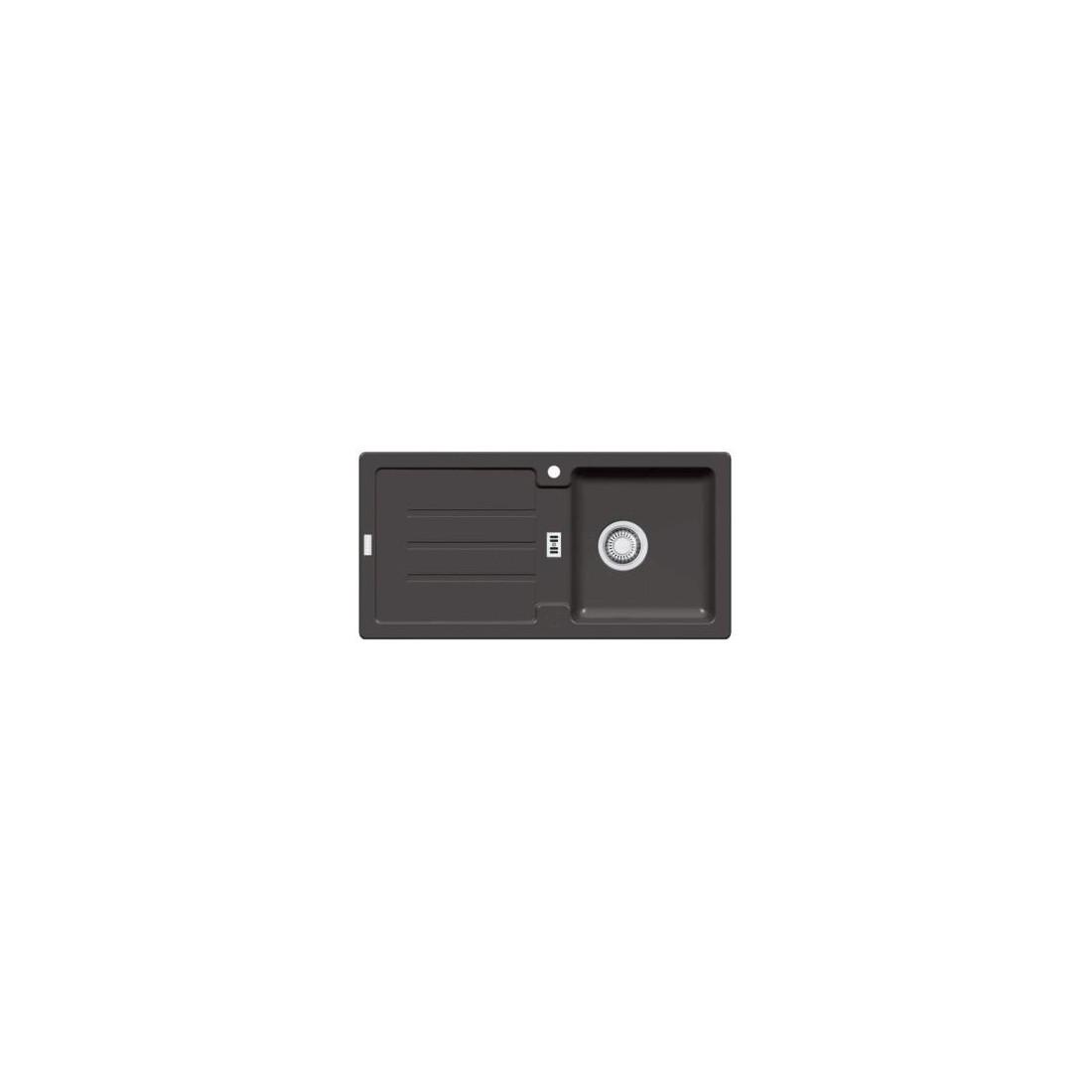 Akmens masės plautuvė Franke Strata, STG 614-86, Graphit, užkemšamas ventilis