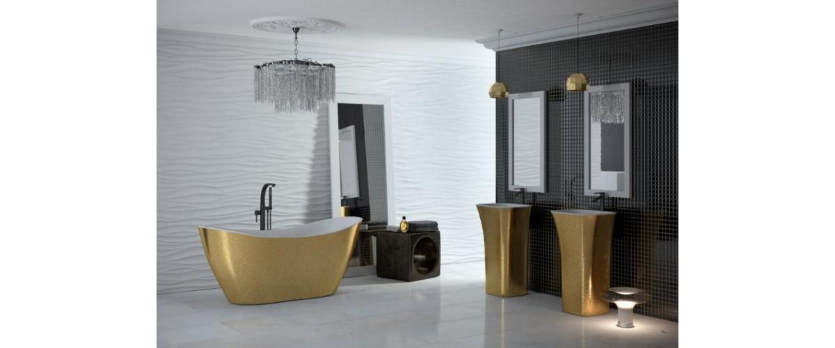 Laisvai pastatomos vonios, labai patogu montuoti ir eksplotuoti